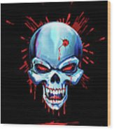 Head Shot Wood Print