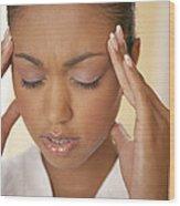Headache Wood Print
