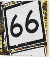 Heading West On Route 66 Wood Print