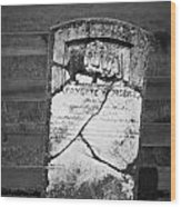 Headstone Of Lafayette Meeks Wood Print by Teresa Mucha