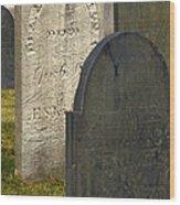 Headstones Wood Print