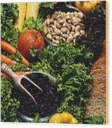 Healthy Foods Wood Print