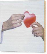Healthy Heart, Conceptual Image Wood Print