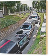 Hearses At Laurel Hill Cemetery Wood Print