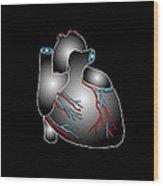 Heart Anatomy, Artwork Wood Print