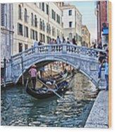 Heart In Venice Wood Print