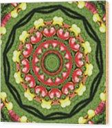 Heart Kaleidoscope Wood Print
