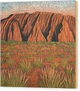 Heart Of Australia Wood Print by Lisa Frances Judd