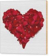 Heart Of Petals Wood Print