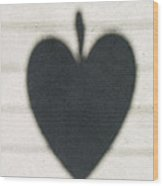 Heart On Wire I Wood Print