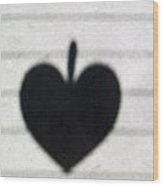 Heart On Wire II Wood Print