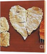 Heart Shaped Leaves Wood Print