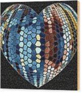 Heartline 4 Wood Print