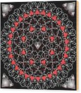 Hearts And Lace 2012 Wood Print