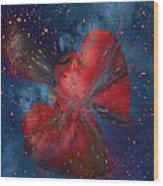 Hearts In Space Wood Print