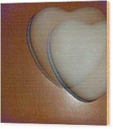 Hearts-marble Wood Print