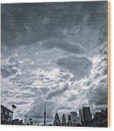Heavy Sky Wood Print by Luba Citrin