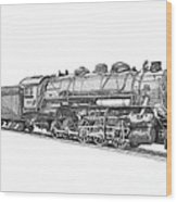 Heavy Steam Switcher 0-10-0 Wood Print
