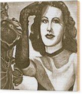 Heddy Lamar Wood Print by Debbie DeWitt
