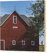 Heflin Barn Headon Wood Print
