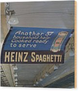 Heinz Spaghetti Train Ad Signage Digital Art Wood Print
