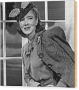 Helen Hayes, 1940 Wood Print by Everett