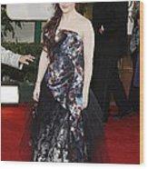 Helena Bonham Carter Wearing A Viviene Wood Print by Everett