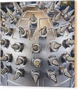 Helical Array Antenna Wood Print