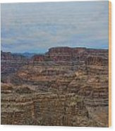 Helicopter View Of The Grand Canyon Wood Print