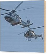 Helicopters Wood Print