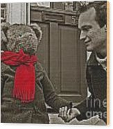 Hello Mr Bear Wood Print