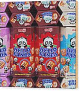 Hello Panda Biscuits Wood Print