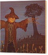 Helloween Wood Print