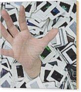 Help - Too Many Slides Wood Print by Matthias Hauser