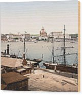 Helsinki Finland - Russian Cathedral And Harbor Wood Print