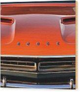 Hemi Orange 1971 Dodge Challenger Wood Print