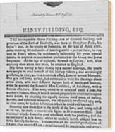 Henry Fielding (1707-1754) Wood Print