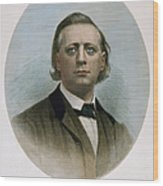 Henry Ward Beecher (1813-1887). American Clergyman. At Age 50: Steel Engraving, 19th Century Wood Print