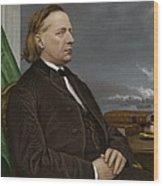 Henry Ward Beecher, Us Social Reformer Wood Print by Maria Platt-evans