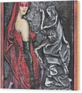 Her And The Ghost Wood Print