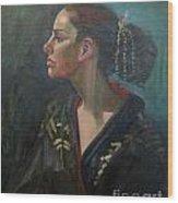 Her Kimono Wood Print