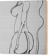 her Wood Print