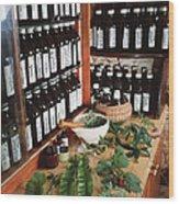 Herbal Pharmacy Wood Print