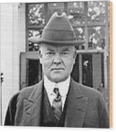 Herbert Hoover - President Of The United States Of America - C 1924 Wood Print