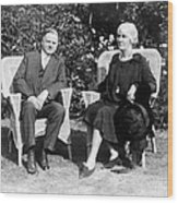 Herbert Hoover Seated With His Wife Wood Print