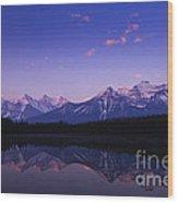 Herbert Lake Sunrise Wood Print