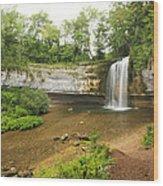 Herisson Waterfalls Wood Print