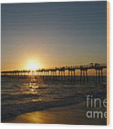 Hermosa Beach Sunset Wood Print