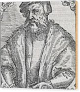 Hernan Cortes, Spanish Conquistador Wood Print by Middle Temple Library