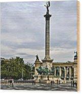 Heros Square - Budapest Wood Print